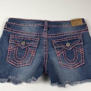 TR Joey Super T Distressed Jean Shorts Sz. 16 Girl